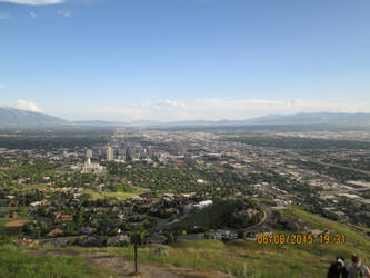 Ensign Peak (top)- view of Salt Lake City, UT by dragonfreak1112