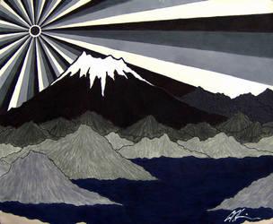 Night Over Shasta by shakedown1970