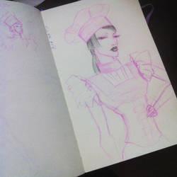 Aya Sato sketch by MishkaTrisha