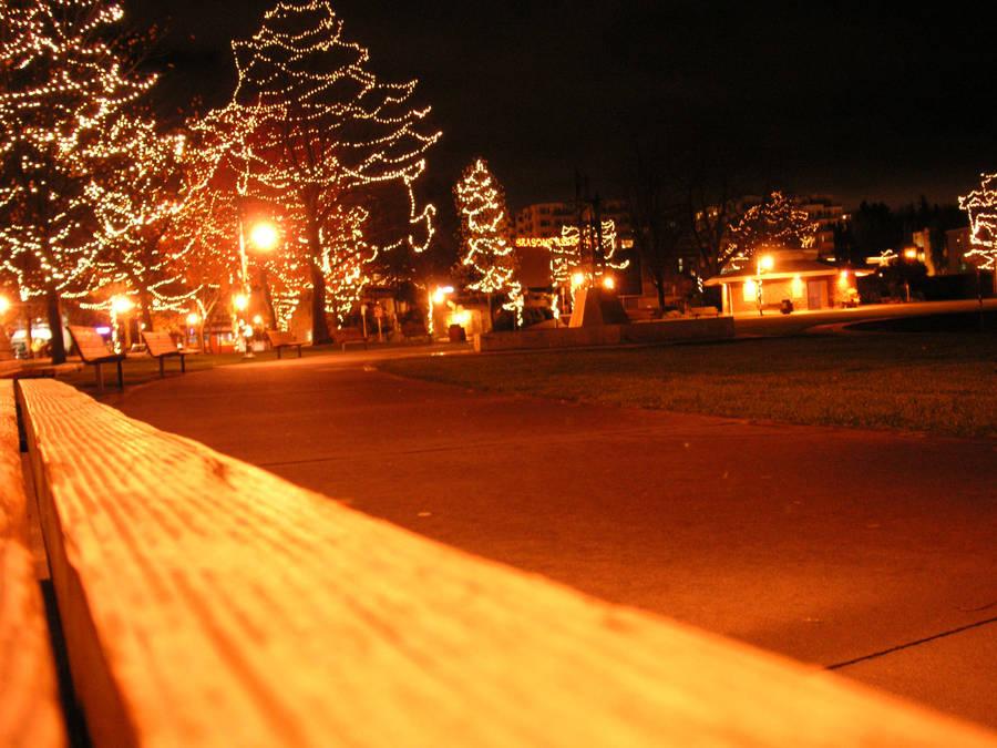 Park Bench At Night By Bleuren On Deviantart