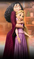 Rapunzel and Mother Gothel by Iranaa
