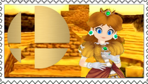 Daisy for smash bros stamp by Cold-Clux
