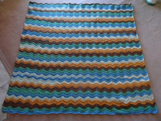 Ripple stitch blanket. by me-and-mojo