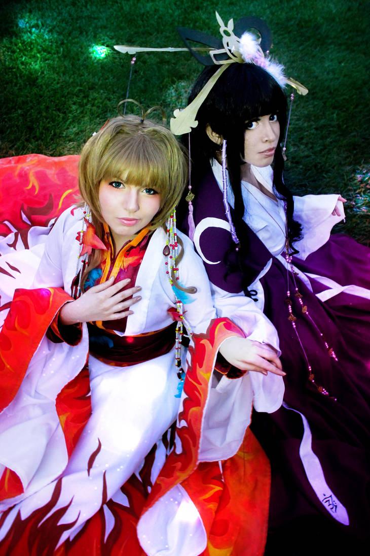 Sakura and Tomoyo by Dropchocolate