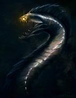 The Sleeping Deep - Eel Demon by mikenashillustration