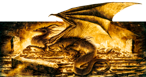 Smaug The Magnificent by mikenashillustration