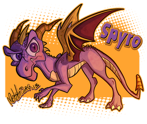 Spyro the Dragon by Mekki