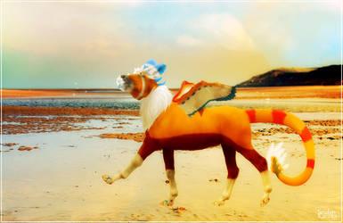 Dragon on the beach by Seiden-Kaczka