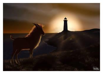 Sunset on the seashore by Seiden-Kaczka