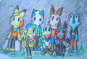 Fifth Grade Friends - Nighttime Skies by TheBlueRiolu