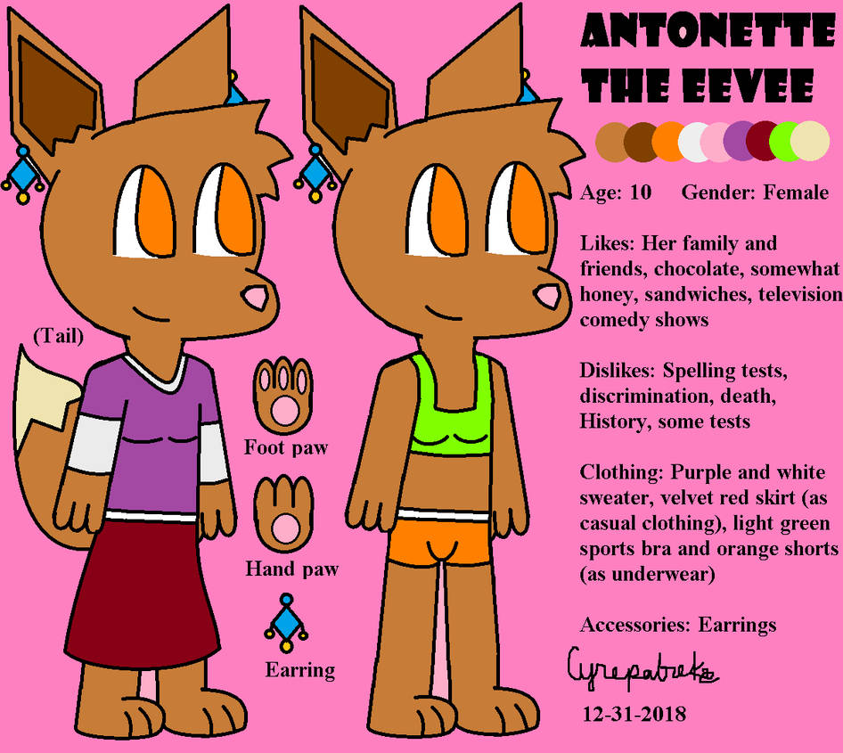antonette eevee reference sheet for 2019 by theblueriolu on deviantart