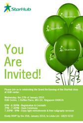 Starhub E-Invite by EcoFisherman