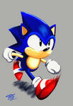 Sonic The Hedghog by TrueRetroSonic