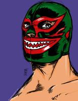 Mil Mascaras Tiburcio by LordCoatl