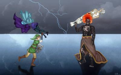 Skyward Sword Clash by BLUEamnesiac