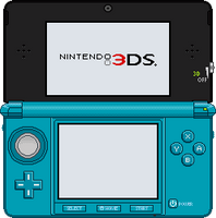 Nintendo 3DS [Cobalt Blue] by BLUEamnesiac
