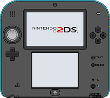 Nintendo 2DS [blue] by BLUEamnesiac