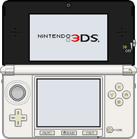 Nintendo 3DS [Ice White] by BLUEamnesiac