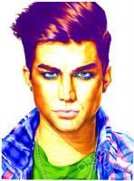 Adam Lambert in Colors by sunshinerin