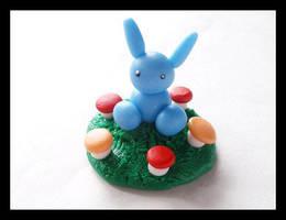 Blue Autumn Bunny by Shiritsu