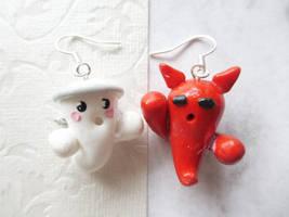 Angel and Devil Earrings by Shiritsu