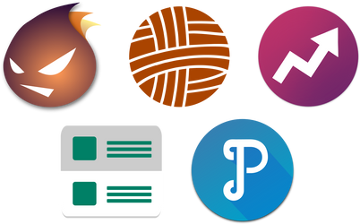 Inkscape Material App Icons 01 by ersinertan