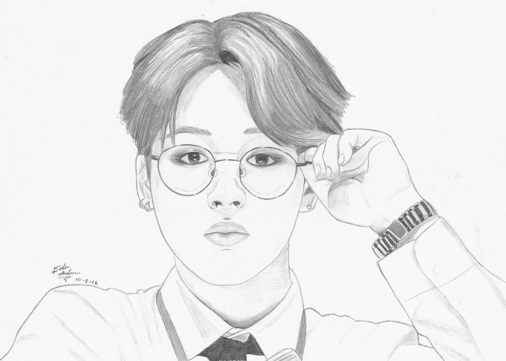 bts park jimin drawing by gwiyomibaozi dawah42 fullview