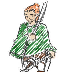 snk/aot oc doodle by hilljekvist