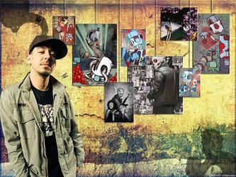 My Mike Shinoda Wallpaper by chocolatepuppy