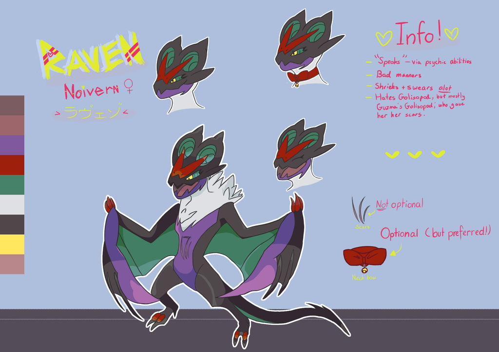 Character reference - Raven by Bluesunrisecat