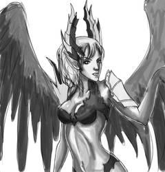 Lineage II character - Kamael by ZerHypno