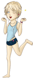 Chibi character : Aleks by ZerHypno