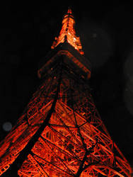 Tokyo Tower by Night by GreatTeacherKevin
