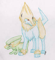 Electrike and Manectric by LuzrovRulay