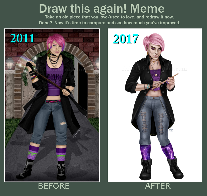 Before and After Meme : Nymphadora Tonks by Fefe1414