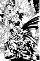 bruce and clark by gammaknight
