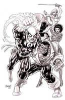 Iron Fist  Powerman and co by gammaknight