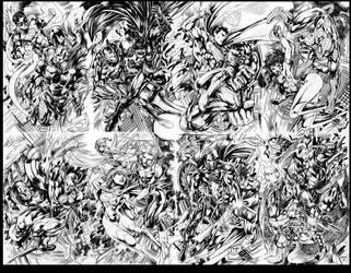 DC vs Marvel full shot by gammaknight