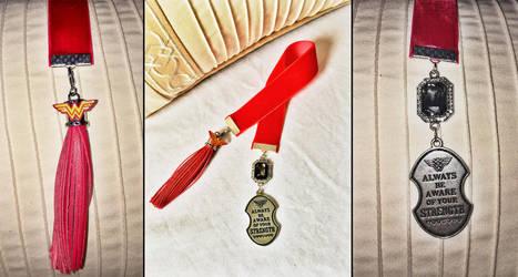 Wonder Woman Custom Handmade Bookmark by QuidleysQuirks