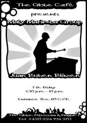Maly marimba group - gig flyer by niknars