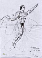 Superman figure sketch by Speezi