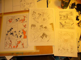 Tanuki Blade page 12 in progress by Speezi