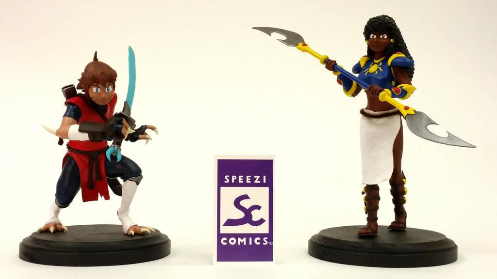 SPEEZI COMICS Nahara and Unagi Figurines by Speezi