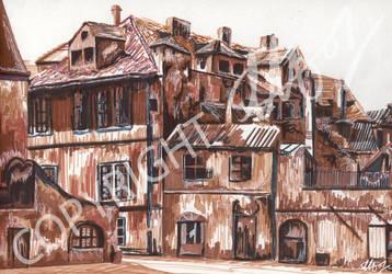 Italian Houses by LauraHolArt