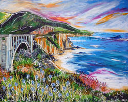 Bixby Bridge by LauraHolArt