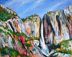 Yosemite Falls by LauraHolArt
