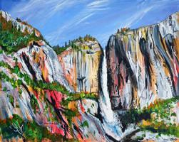 Yosemite Falls by LauraHolArt