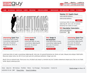 SEO GUY - Logo + Website by DrDuke