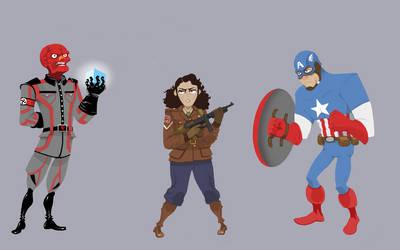 Cap doodles! by Blanco-Pantera