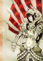 Skull warrior princess Ishka by winwinwinwin